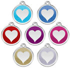 Kyпить Red Dingo Stainless Steel & GLITTER Heart Engraved Dog ID Tag — Pick Size/Color на еВаy.соm