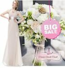 APHRODITE Mink Latte  Chiffon Maxi Prom Evening Bridesmaid Dress UK 6 -18 SALE!!