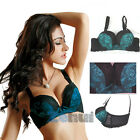 Women Underwire Gather Deep V 3/4 Cup Bra Push Up Comfy Brassiere 32-38 A/B Cup