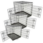 Metal Folding Dog Cage Crate Kennel Home Pet Cat Portable Tray Puppy Carrier