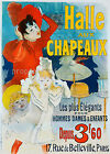 Halle Chapeaux vintage French print poster, large 4 sizes available, France 44