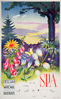 vintage Belgian National Railways ad print poster, 4 sizes available-Train 36