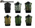 Paintball SWAT Tactical Combat Hunting Vest Lightweight +Holster Pouch Black/TAN