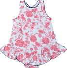 Claesen's Baby Girls Red Flower Cotton Onesie Summer Dress Size 6M, 12M $32 NWT