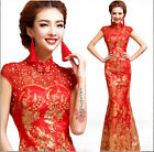 Chinese Style Party Gown Bride Bridesmaid Cocktail Prom Cheongsam Wedding Dress