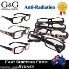 Anti-Radiation Glasses Frame Computer TV Radiation Protection clear lens +0