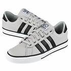 Adidas Neo Canvas Grey/Black Trainers Pump Shoes Mens Size UK 6-9