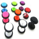 8MM ACRYLIC FAKE EAR PLUG CHEATER TUNNEL TAPER STRETCHER EXPANDER EARRING STUD