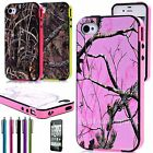 Tree Straw Grass Camo Hybrid TPU Hard Soft Case Cover For Apple iPhone 4 4S 4G