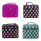 Women LARGE Hanging Toiletry Travel Wash Organizer Case Cosmetics Makeup Dot Bag