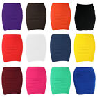 Fashion Chic Lady Mini Skirt Pleated Seamless Stretch Tight Bodycon Dress10Color