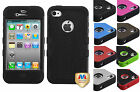 for Apple IPhone 4/4S Natural Tuff Hard/Soft Dual Layer Case Cover + PryTool
