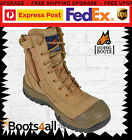 Mongrel Work Boots Steel Toe (551050) Safety Wheat Zip Up Boots Brand New