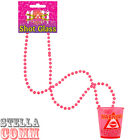 Pink Hen Night Party Shot Glasses With 84cm Necklace Drinking Games Bachelorette
