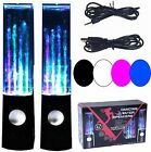 Dancing Water Speakers Music Fountain LED Jet Light For iPhone iPod iPad PC