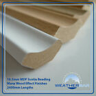 Laminate Wood MDF Scotia Floor Beading, Edging Strips, 10 x 2400mm Lengths (24m)