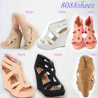 Cute Wedge Heel  Platform Open Toe Sandal Shoes 6 Color  Size 5 - 10 NEW