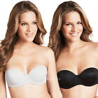 Ladies Ex M&S Strapless Multiway Bra with Clear Straps Black, White or Natural