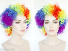 Clown Medium Curly Costume Fun Color Wigs