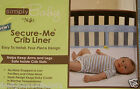 Simply Baby by NoJo Secure-Me Crib Liner Pink or Blue new in pkg