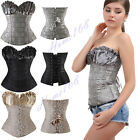 NEW 3 Colors Sexy Wedding Satin Corset Lace Up Bustier Top Plus Size S-6XL hh