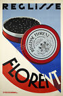 Florent tobacco Vintage French ad print poster, large 4 sizes available
