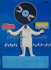 Vintage French Radio print poster, large 4 sizes available