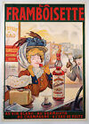 Vintage French Framboisette advertisement print poster, large 4 sizes available