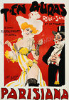 Parisiana Vintage French advertisement print poster, large 4 sizes available