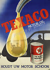 Vintage Texaco Automotive oil print poster, large 4 sizes available