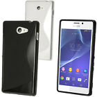 S Line TPU Gel Skin Case Cover for Sony Xperia M2 D2303 2305 2306 + Screen Prot