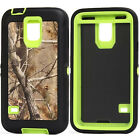 Shockproof Defender Green Tree Camo Case Cover for Samsung Galaxy S5 I9600