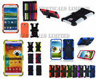 Shock Proof Heavy Duty Tough Builder Dual Layer Silicone Hard Case Cover Samsung