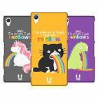 HEAD CASE DESIGNS RAINBOW PUKE CASE COVER FOR SONY XPERIA Z2 D6503