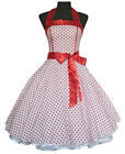 Vintage Dancing Party Polka Dot Spot Swing Rockabilly Jive Dress 50's 60's White