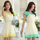 2014 New Summer Women Short Sleeve Slim Fit Cocktail Evening Party Chiffon Dress