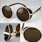 Classic Block Steampunk Blinder Retro Vintage Eyewear Sunglasses UK MD