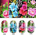 Nail Art Decals Full WRAPS Flower Floral Water Transfer Stickers DIY Decorations
