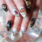 Nail Art Decals Full WRAPS Halloween Skull Water Transfer Stickers Decorations