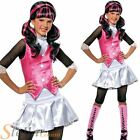 Girl's Draculaura Monster High Halloween Book Week Fancy Dress Costume Kids