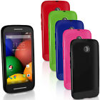 Glossy TPU Gel Skin Case for Motorola Moto E Soft Cover Bumper + Screen Prot