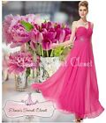 BNWT CHRISTA Beaded Pink Chiffon Maxi Prom Evening Bridesmaid Dress UK 6 - 18