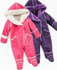 Faux Shearling Snowsuit With Mittens  Booties  Pink or Purple  New With Tags