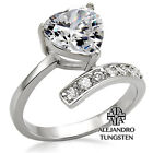 Women's Ring 4.40 Ct Heart Shape Brilliant Pave Stainless Steel Wedding TK009