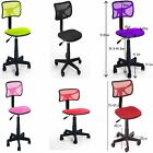 UKStock Adjustable Heigh tSwivel Office Computer Fabric Pad Seat Back Rest Chair