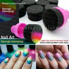 Nail Art Sponge Stamp Stamping Polish Template Transfer Manicure DIY Tools Easy