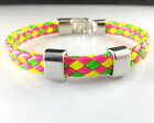 2014 Men Leather Wrap Wristband Bright colors Cuff Punk Wristband Bracelet Charm
