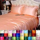 3 PCS 16MM 100% SILK RUFFLED DUVET QUILT COVER PILLOW CASES COVERS ALL SIZE
