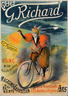 Vintage Richard Bicycles Advertisement print poster, 4 large sizes available