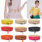 Stylish Women's PU Leather Buckle Hollow Waist Belt Cinch WaistBand Cummerbund